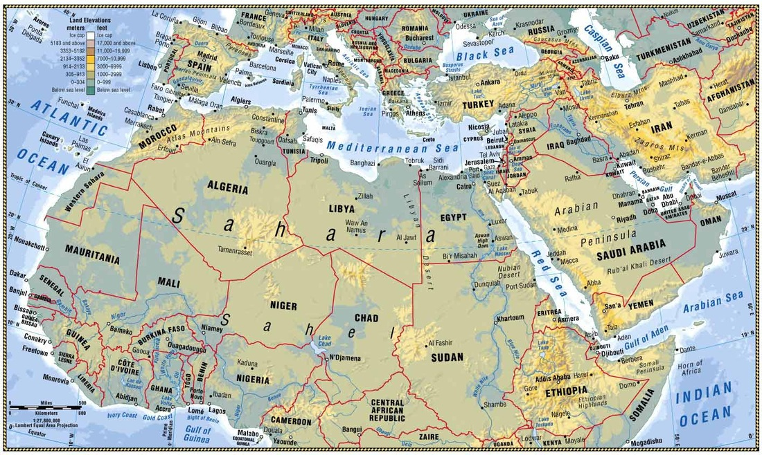 North Africa and Southwest Asia Maps - Ms Patten