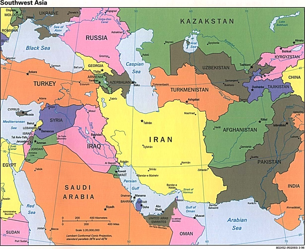 North Africa And Southwest Asia Map North Africa and Southwest Asia Maps   Ms Patten